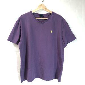 Polo Ralph Lauren large purple v-neck tee shirt